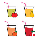 Drink fruit colot vector Stock Image