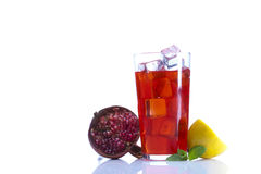 Drink with fruits Royalty Free Stock Photos