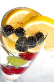 Drink with fruits stock photography