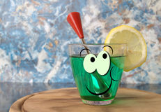 Drink glass Stock Images