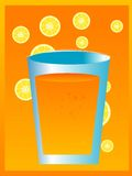 Drink glass. With lemon slices on gradient background Royalty Free Stock Images