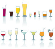 Drink glasses Stock Image