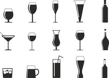 Drink glasses Stock Images