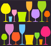 Drink glasses Royalty Free Stock Photos