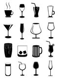 Drink glasses icons set Stock Image