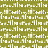 Drink Glasses Seamless Pattern Stock Photography