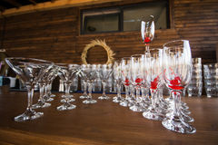Drink glasses Royalty Free Stock Image