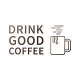 Drink good coffee Inspiring phrase Motivation quote Stock Photography