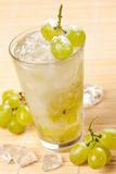 Drink with grapes Stock Image