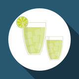 Drink graphic design , vector illustration Royalty Free Stock Photography