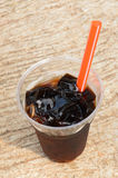 Drink from Grass Jelly. Royalty Free Stock Photography