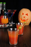 Drink on Halloween Stock Photography