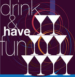 Drink & have fun. Drink & have fun. illustration made in adobe illustrator Royalty Free Stock Photos