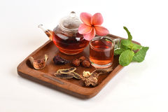 Drink herbal colon cleansing and fat accumulation. Stock Photography