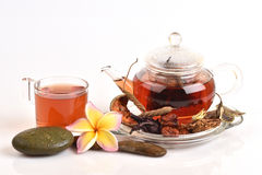 Drink herbal colon cleansing and fat accumulation. Royalty Free Stock Photo