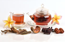 Drink herbal colon cleansing and fat accumulation. Royalty Free Stock Photos