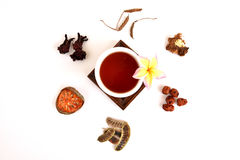 Drink herbal colon cleansing and fat accumulation. Royalty Free Stock Images