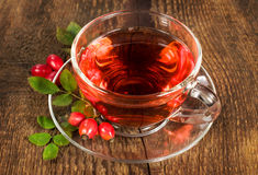 Drink from the hips in glass cup Stock Photo