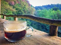 Drink Hot black coffee cup on the morning everyday. Drink Hot black coffee cup on the morning everyday at Chiangmai province Northern Thailand Stock Images