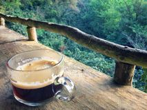 Drink Hot black coffee cup on the morning everyday. Drink Hot black coffee cup on the morning everyday at Chiangmai province Northern Thailand Stock Photo