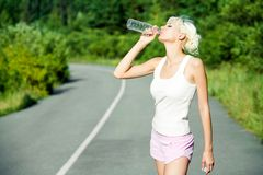 Drink on hot day Royalty Free Stock Images