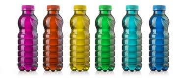 Drink i plast- flaska royaltyfri bild