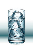 Drink with ice. Vector illustration Royalty Free Stock Photo