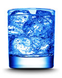 Drink with ice close-up Stock Photography