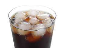Drink with ice cubes Stock Images