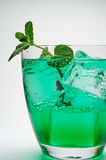Drink with ice cubes and mint Royalty Free Stock Photos