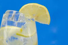 Drink, Ice and lemon Royalty Free Stock Images
