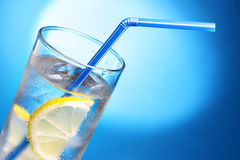 Drink with ice and lemon Royalty Free Stock Photos