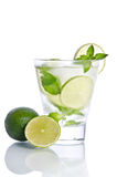 Drink with ice, mint and lime Stock Photography