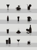 Drink icon collection Stock Images