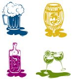 drink icon set Royalty Free Stock Photography
