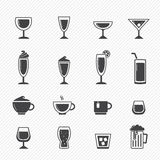 Drink icons Royalty Free Stock Images