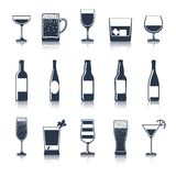 Drink Icons Black Royalty Free Stock Image