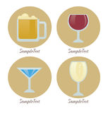Drink icons Royalty Free Stock Photos