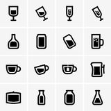Drink icons Royalty Free Stock Image