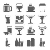 Drink icons set Stock Photos