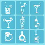 Drink icons. Stock Photos