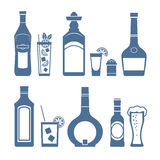 Drink icons. Royalty Free Stock Image