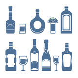 Drink icons. Stock Photo