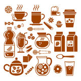 Drink icons. Stock Image
