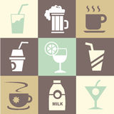 Drink icons set great for any use. Vector EPS10. Stock Images
