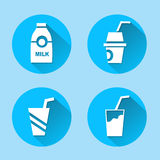 Drink icons set great for any use. Vector EPS10. Stock Photos