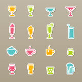 Drink icons set Royalty Free Stock Photos