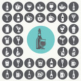 Drink icons set. Stock Photo