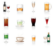 Drink icons Stock Photo