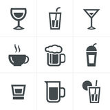 Drink  Icons Set, Vector Design Royalty Free Stock Photos